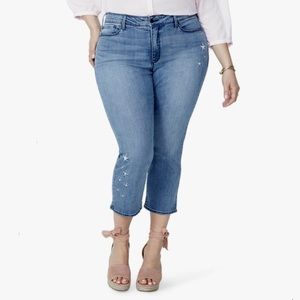 NYDJ Marilyn Ankle Seastar Embroidered Jeans